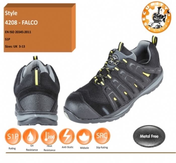 FALCO Black/Yellow METAL FREE Safety Trainer