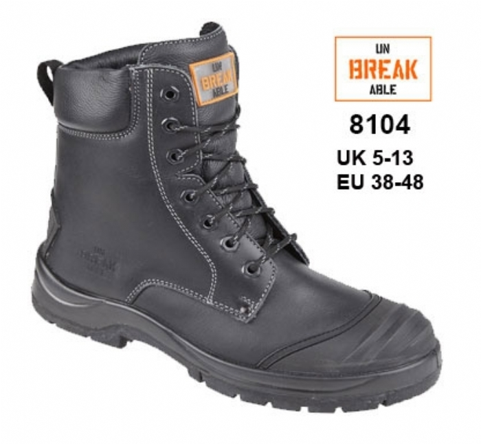 UNBREAKABLE Demolition Safety Combat Boot with Bump cap and Kickplate