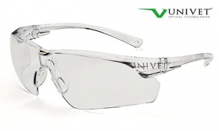 505up safety spec with anti-scratch anti mist lens clear