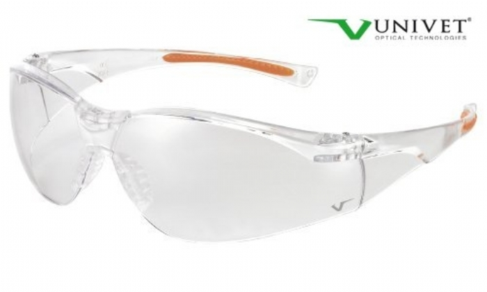 513 sporting style safety spec clear lens anti-scratch clear / orange frame