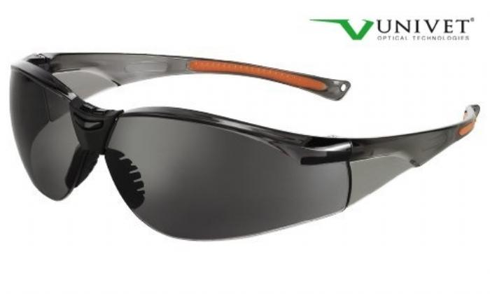 513 sporting style safety spec smoke lens anti-scratch smoke / orange frame