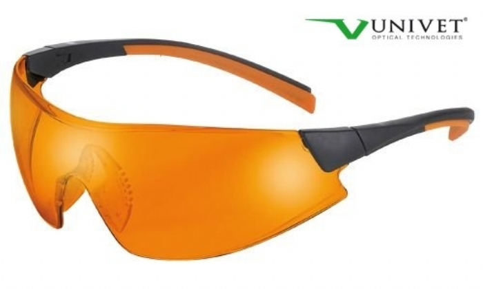 546 lightweight wrap style safety spec anti-scratch anti-mist orange lens black/orange frame