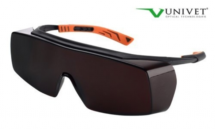 5X7 ultimate overspec with anti-scratch amber lens black/orange frame