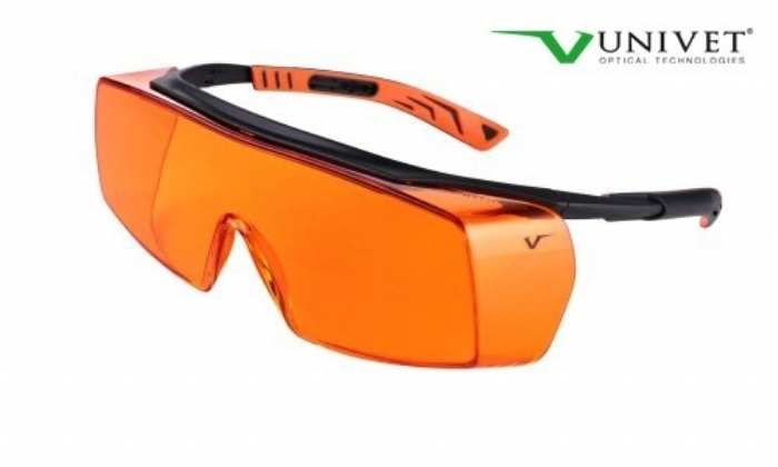 5X7 ultimate overspec with anti-scratch anti-mist orange lens black/orange frame