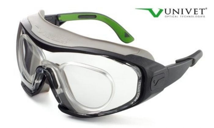 6X1 hybrid safety spec that can convert to a safety goggle anti-scratch anti-mist lens