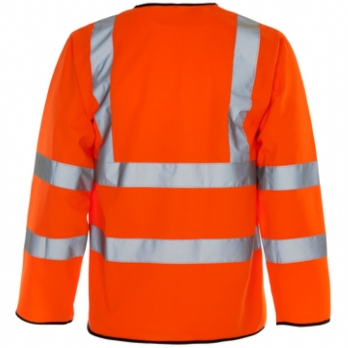 Hi Vis Long Sleeved Vest - Velcro