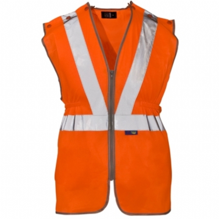 Hi Vis Polyester Long Tracker Vest