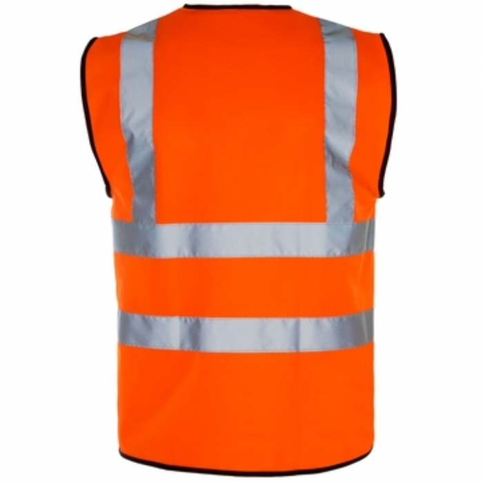 Hi Vis Vest – Black Binding – Zip