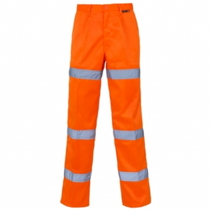 Hi Vis 3 Band Polycotton Trousers