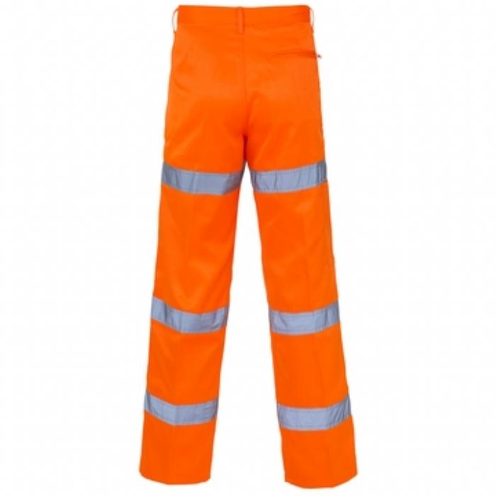 Hi Vis 3 Band Polycotton Trousers