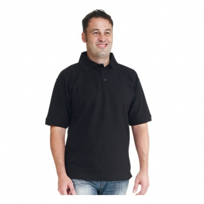 Endurance Polycotton Premium Plus Polo Shirt Black