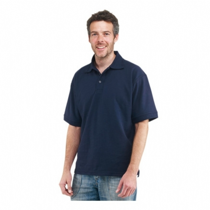 Endurance Polycotton Premium Plus Polo Shirt Navy