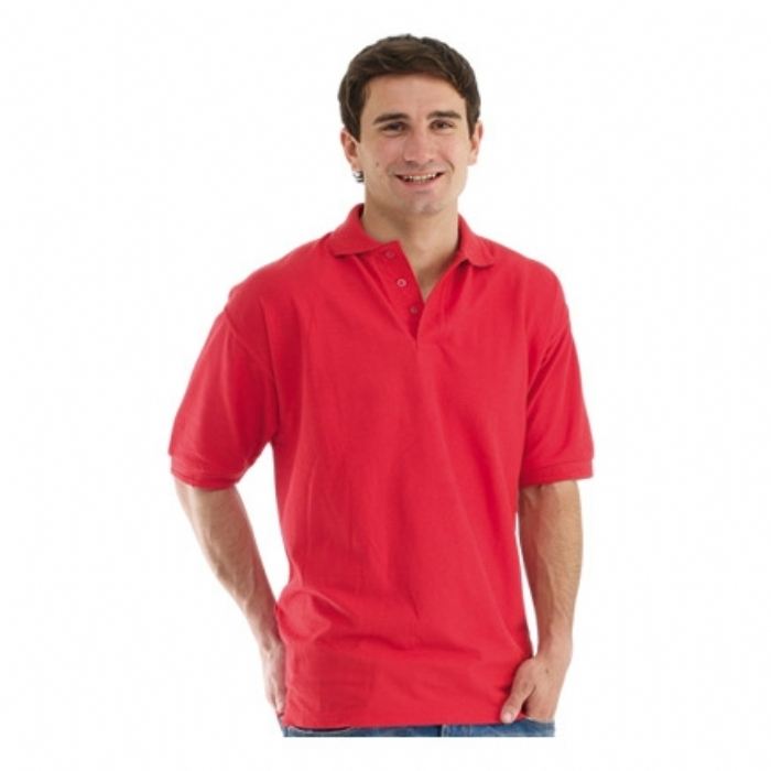 Endurance Polycotton Standard Polo Shirt Red