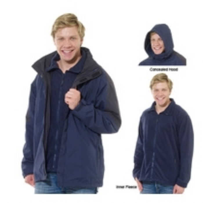 Regatta Defender III 3-in-1 Waterproof Jacket Navy/Black