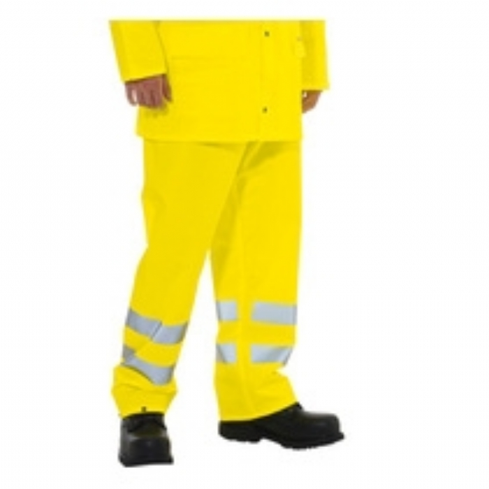 Flexothane Classic EN 471 Trousers - High Visibility Saturn Yellow