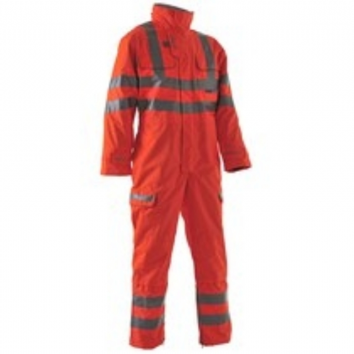 Pulsarail EN 471 High Visibility GO/RT 3279 Breathable Unlined Safety Coverall