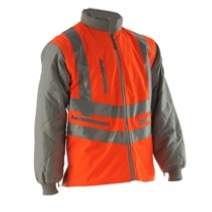 Pulsarail EN 471 High Visbility GO/RT Interactive Body Warmer with Detachable Sleeves