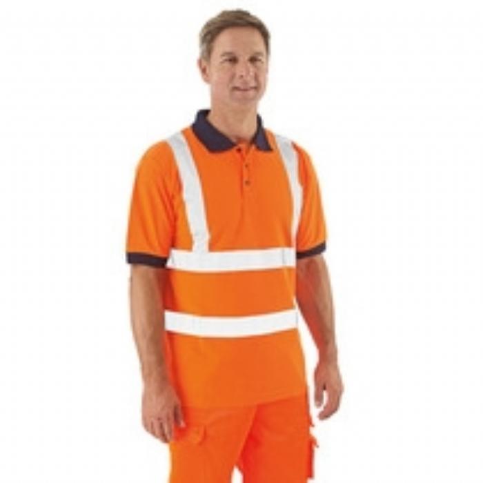 Keep Safe EN 471 High Visibility GO/RT Short Sleeve Safety Polo Shirt