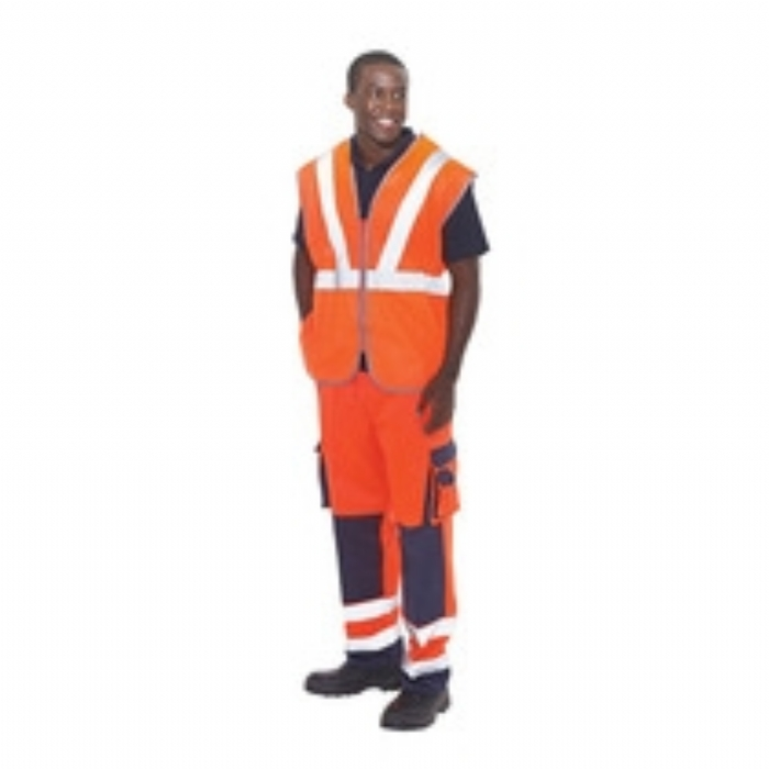 Keep Safe EN 471 High Visibility GO/RT Safety Contractor Waistcoat