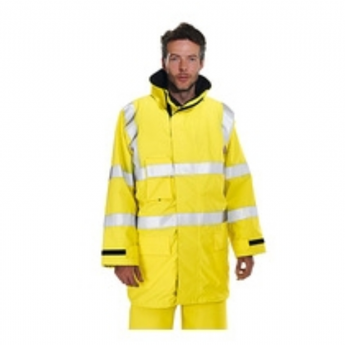BlazeTEK EN471 High Visibility Waterproof Breathable Flame Retardant Anti- Static Jacket