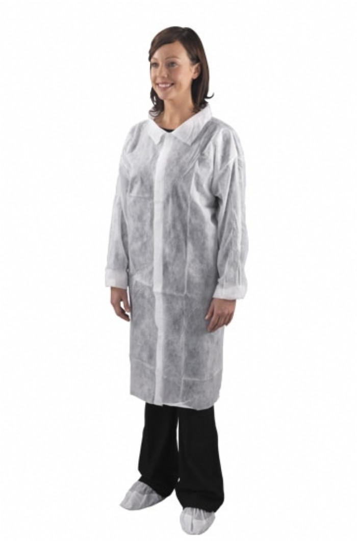 Non-Woven Visitor Coat With Poppers
