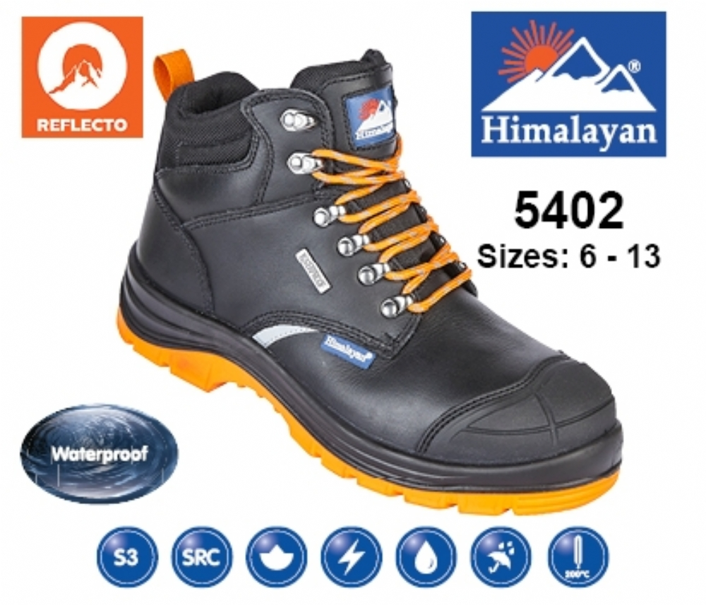ad06584187d HIMALAYAN Black Leather Upper Reflecto Waterproof Safety Boot With Steel  Midsole And Toecap | Aston Pharma