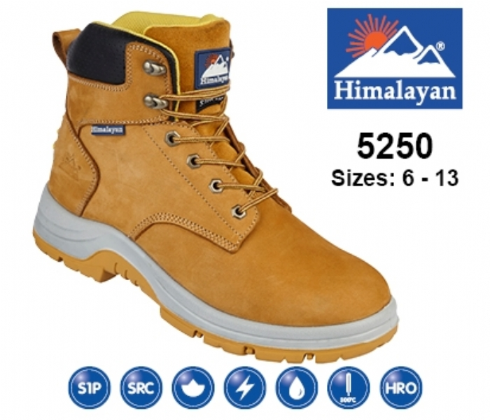 HIMALAYAN  Honey Nubuck Upper Safety Ankle Boot With Steel Toecap and Midsole