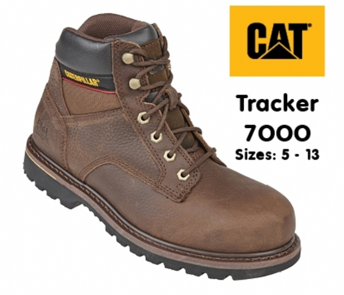Caterpillar Brown Goodyear Welted SB Tracker Safety Boot