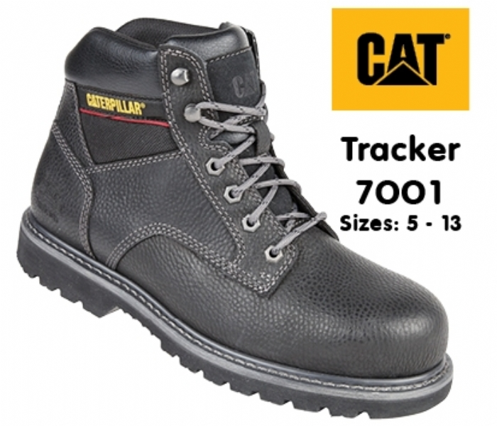 Caterpillar Black Goodyear Welted SB Tracker Safety Boot