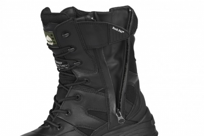 Rock Fall Titanium Hi-Leg non-metallic waterproof safety boot with midsole