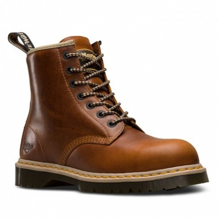 Dr Martens Limited Edition 7B10 Tan Safety Boots