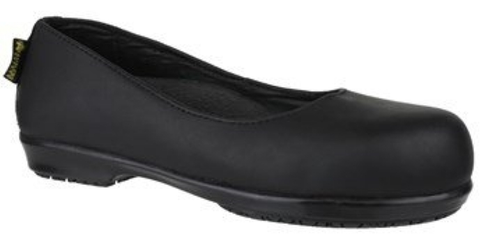 Amblers Ladies Safety Flat Court Shoe - FS109c