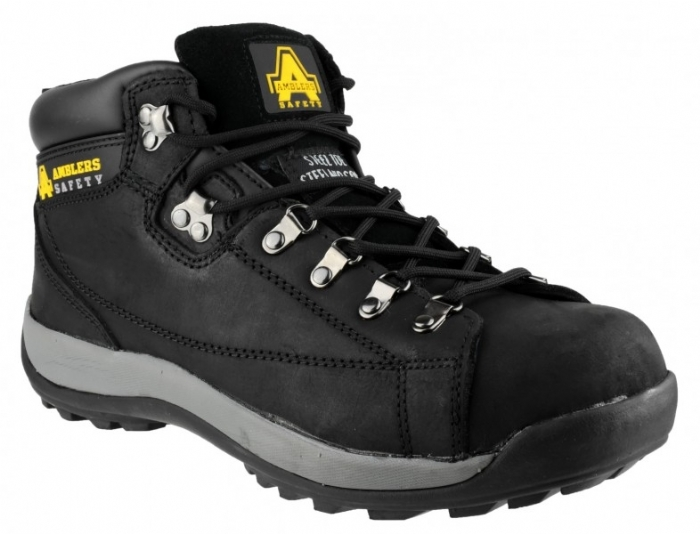 Amblers Steel Ladies Black Safety Boots