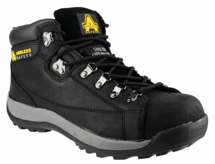Amblers Steel Ladies Black Safety Boots