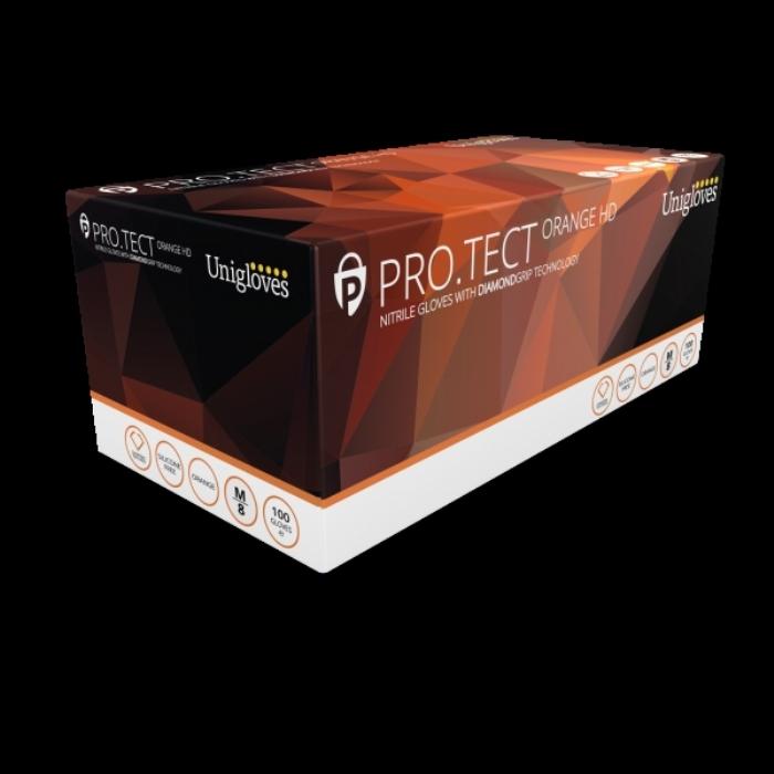 PRO.TECT Orange HD Nitrile Gloves