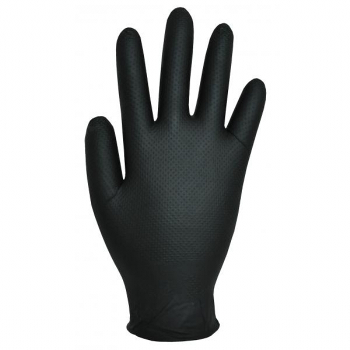 GL100 Finite Black Nitrile Gloves