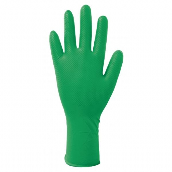 GD535 Green Nitrile Powder Free Disposable Gloves
