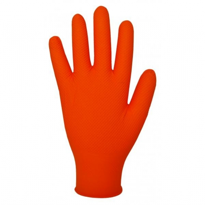 GL902 Orange Nitrile Gloves