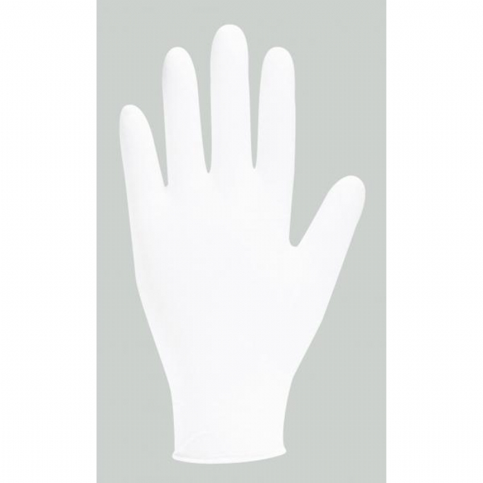 GN92 White Powder Free Nitrile - stretch Gloves