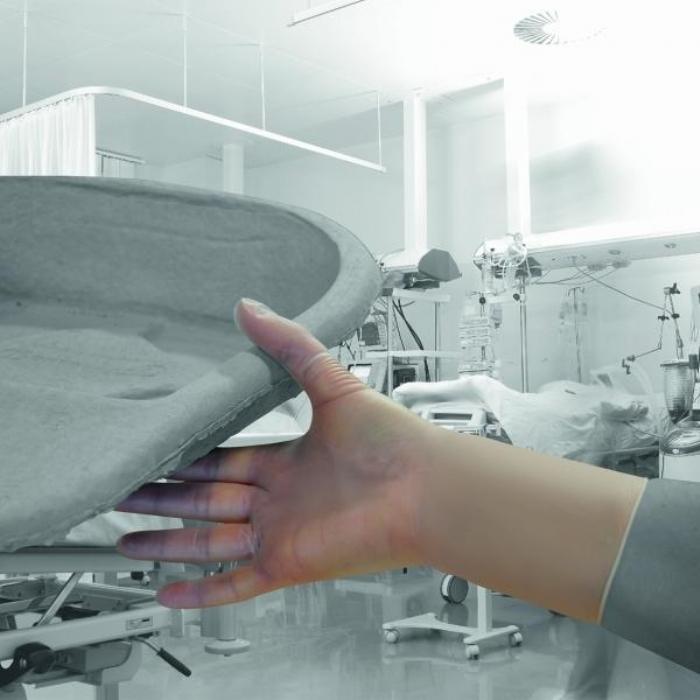 GS124 Sterile Stretch Vinyl Powder Free Gloves