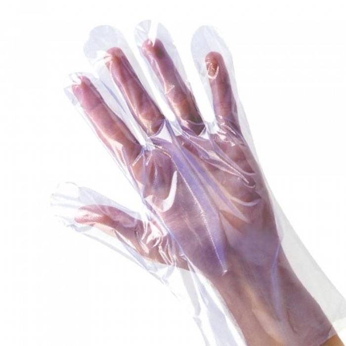 GD55 Clear polythene disposable glove boxed
