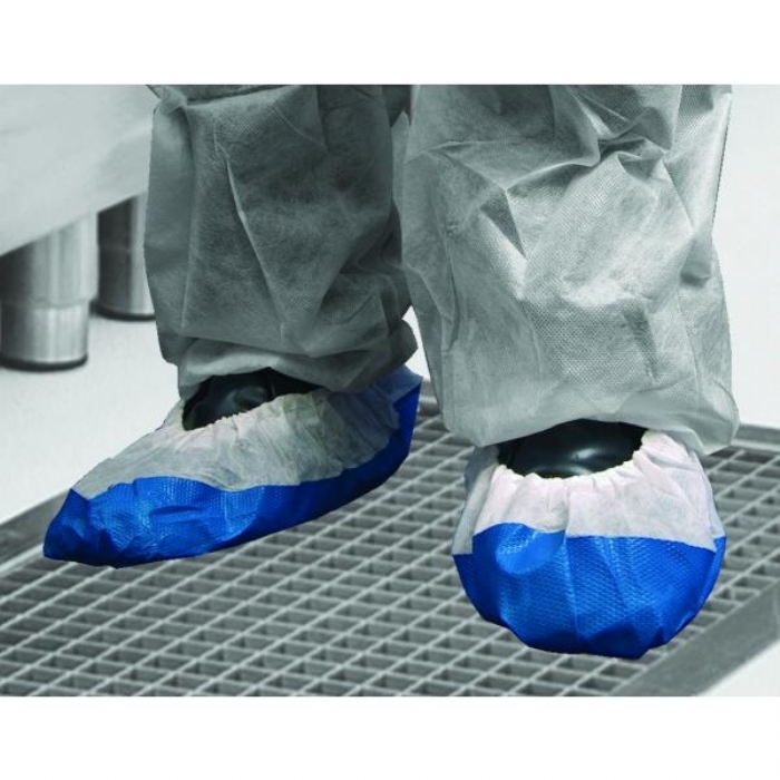 DF02 Shield CPE/Non Woven Deluxe Disposable Overshoes