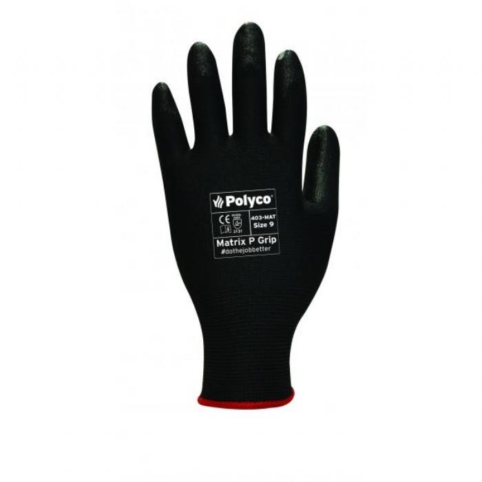 Matrix P Grip Black Gloves