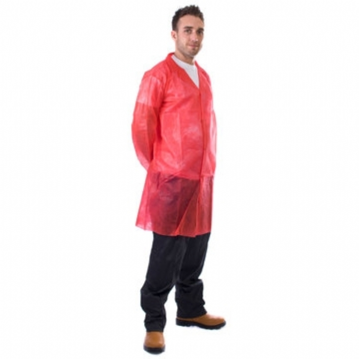 Non-Woven Visitor Coat With Velcro