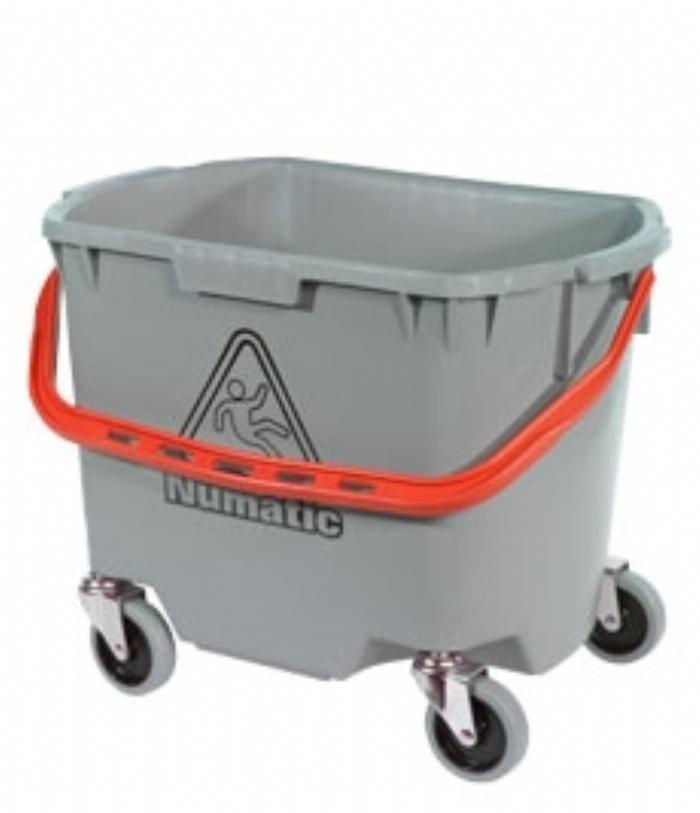 Numatic Optional MultiMop Bucket 30L, Grey, c/w 75mm Castors