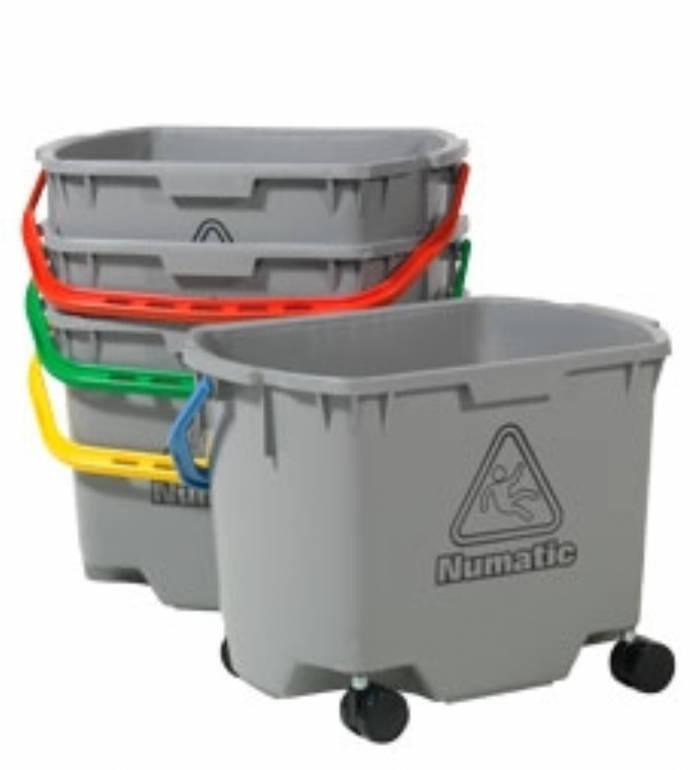 Numatic MultiMop Bucket 30L, Grey, c/w 50mm Castor