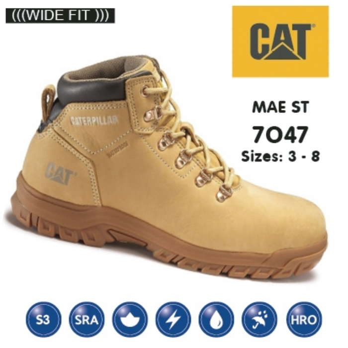 Caterpillar Mae Honey Nubuck Hiker Safety Boot
