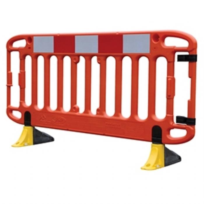 Frontier® 2M Traffic Barrier Anti-Trip Yellow Feet – Orange