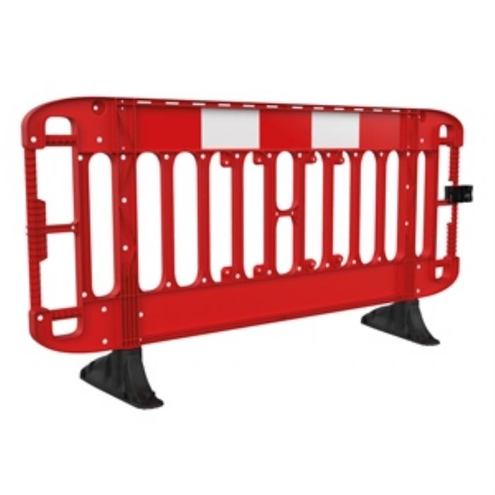 Titan® 2M Traffic Barrier Anti-Trip Black Feet – Red