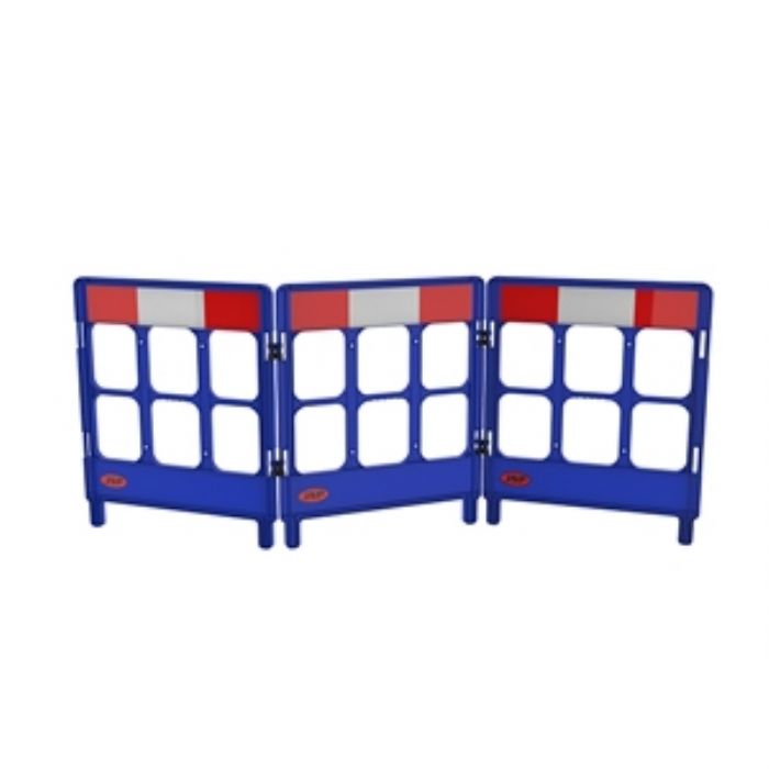 Workgate 3 Gate with Reflectives – Blue